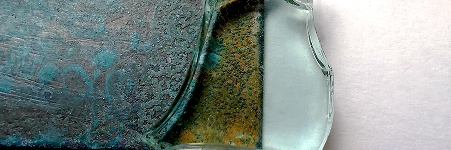 vidrio y patina