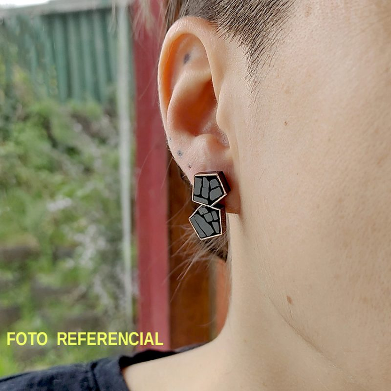 Aros Tope Doble bronce